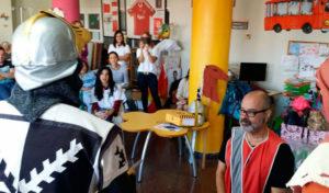 Visita de la Fundación Terra Mítica en el Hospital General de Alicante
